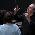 Pierluigi Billone mit Annette Schönmüller und Anna Clare Hauf - (C) Markus Bruckner